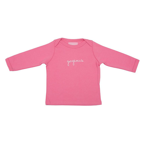 Bob and blossom bright pink 'gorgeous' baby t-shirt