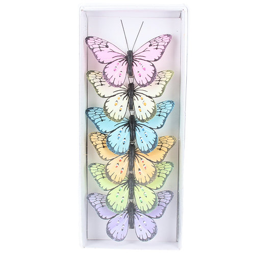 Gisela Graham butterfly clips (6 colours)