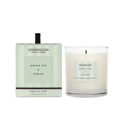 Stoneglow green fig and cedar Scented Candle