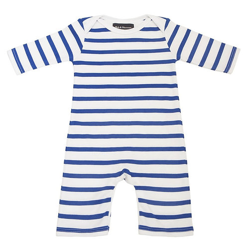 Bob and blossom french blue and white breton striped all-in-one