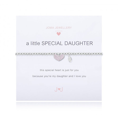 Joma jewellery children's 'a little special daughter' bracelet