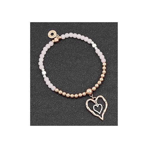 Equilibrium Beadz Collection Bracelet - Double Hearts