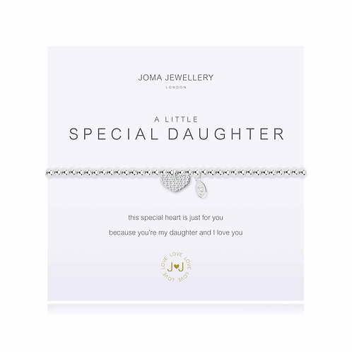 Joma Jewellery 'a little special daughter' silver plated bracelet