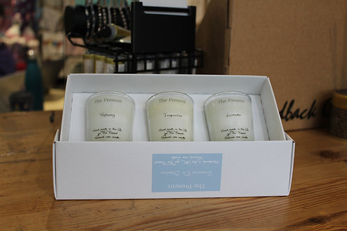 The Present Essential Oil Selection of 3 Scented Candles