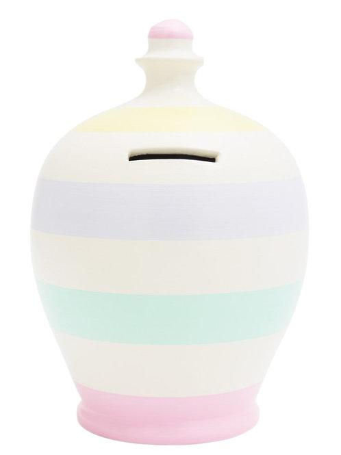 Terramundi pastel stripped pot