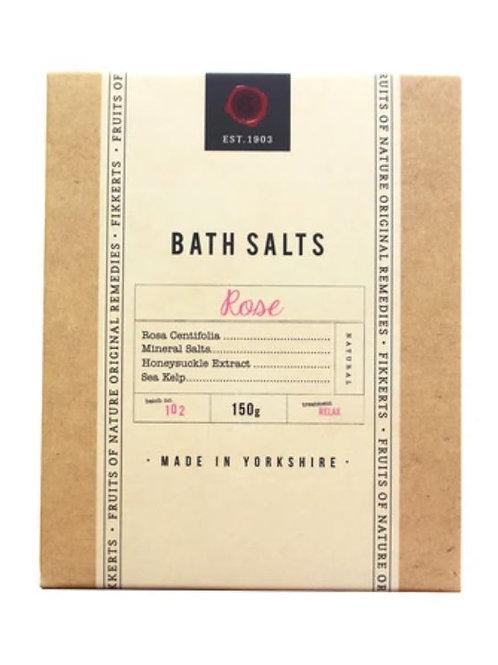 Fikkerts fruit of nature rose bath salts 150g