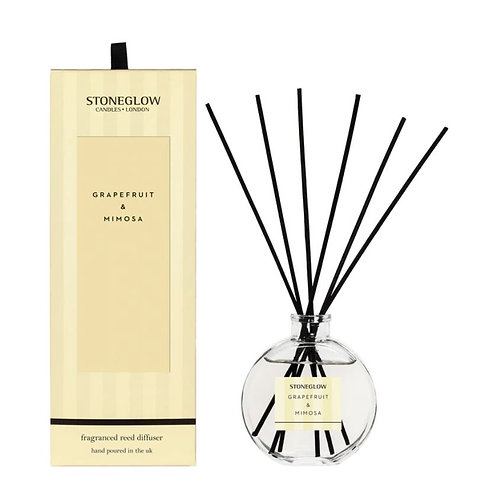 Stoneglow Modern Classic grapefruit and mimosa Reed Diffuser, 120ml