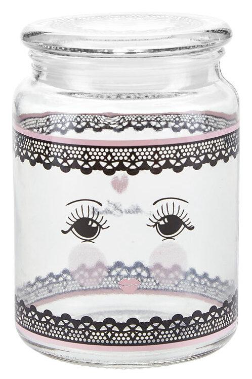 Miss Etoile pink lace jar
