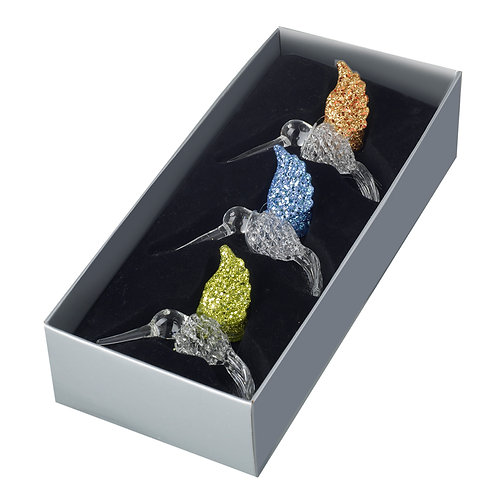 Heaven Sends Multi-Coloured Humming Bird Christmas Decoration (sold as single)