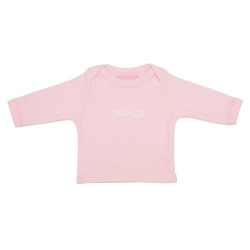 Bob and blossom 'tres cute' pale pink baby t-shirt