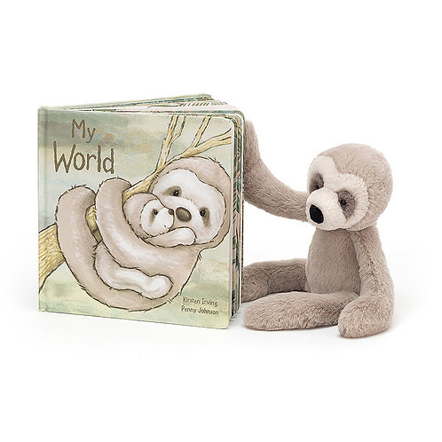 Jellycat My My World Picture Book + Bashful Sloth