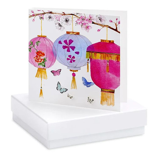 Crumble and core butterfly and lantern boxed earring card