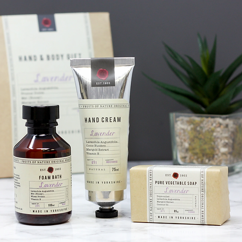 Fikkerts fruit of nature lavender hand and body gift set