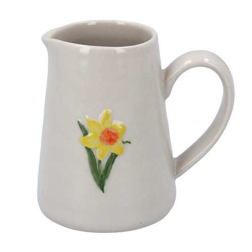Gisela Graham mini ceramic daffodil  jug
