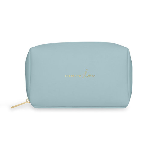 Katie loxton 'choose to shine' colour pop washbag in blue