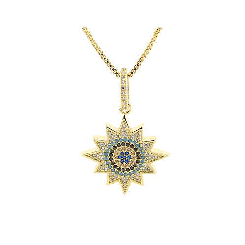 Last true angel gold sun necklace