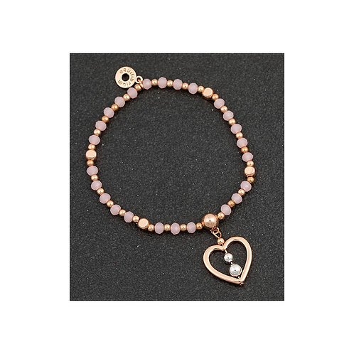 Equilibrium Beadz Collection Bracelet - Heart with Beads