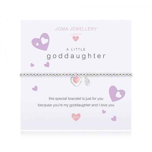 Joma jewellery children's 'a little goddaughter' bracelet