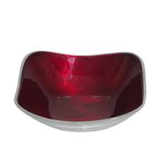 Azeti recycled aluminium square rounded edge bowl
