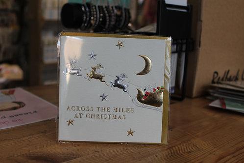 Wendy Jones-Blackett 'Across the Miles at Christmas' Sleigh Christmas Card