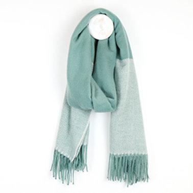 Pom herringbone winter fringed scarf (three colours)