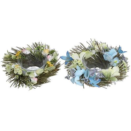 Gisela Graham floral tealight holder (2 colours)