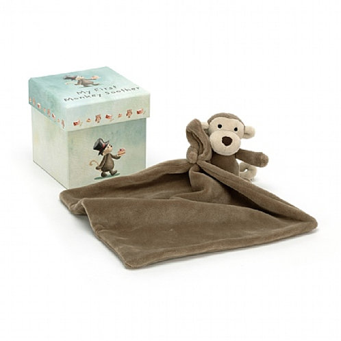 Jellycat My First Monkey Boxed Soothers
