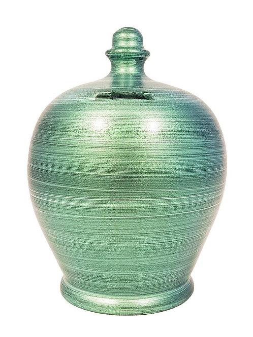 Terramundi metallic green pot