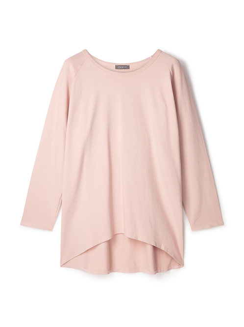 Chalk pink robyn top with giant white star print