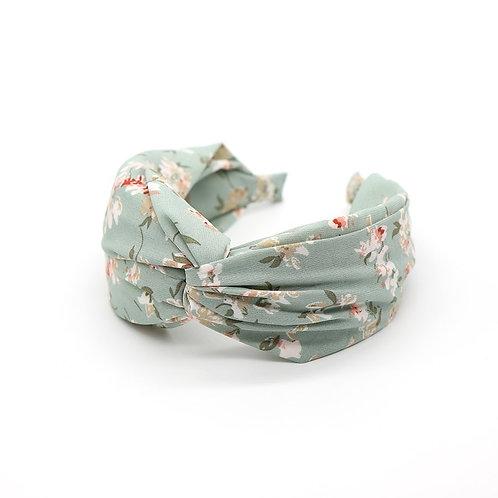 Pom aqua vintage flower headband