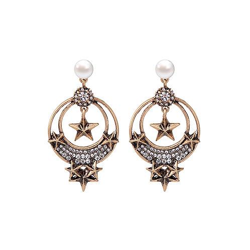 Last true angel chunky star hoop earrings