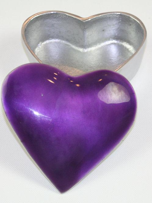 Azeti recycled aluminium purple trinket dish