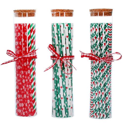 Gisela Graham Christmas Paper Straws (Price is per jar)
