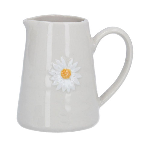 Gisela Graham mini ceramic daisy jug