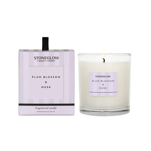 Stoneglow plum blossom and musk Scented Candle
