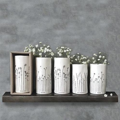 East of India floral porcelain vase