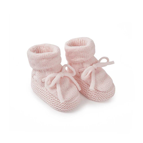 Katie loxton knitted baby boots in pink