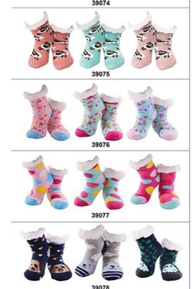 Nuzzles Kids Non-Skid Sole Socks