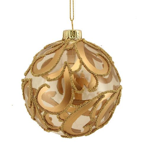 Gisela Graham Golden Christmas Bauble