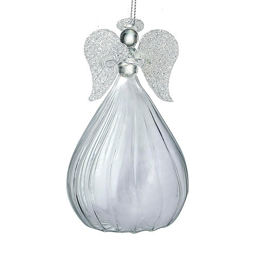 Heaven Sends Silver Large Angel Christmas Decoration (sold as single)