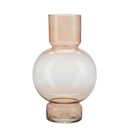 Bahne pink globe glass vase