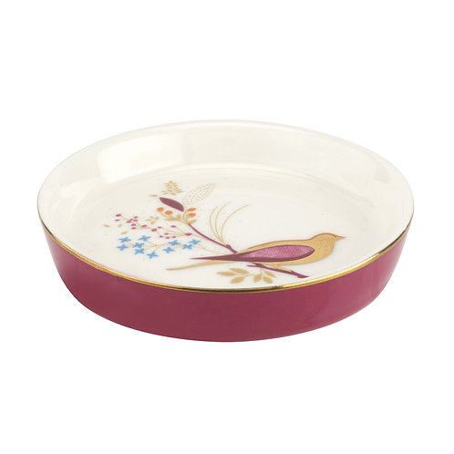 Sara Miller Portmeirion Pink Bird Mini Dish