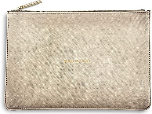 Katie Loxton Quote Pouch 'good as gold'