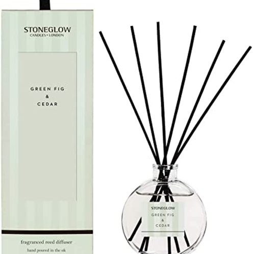 Stoneglow Modern Classic Green Fig and Cedar Reed Diffuser, 120ml