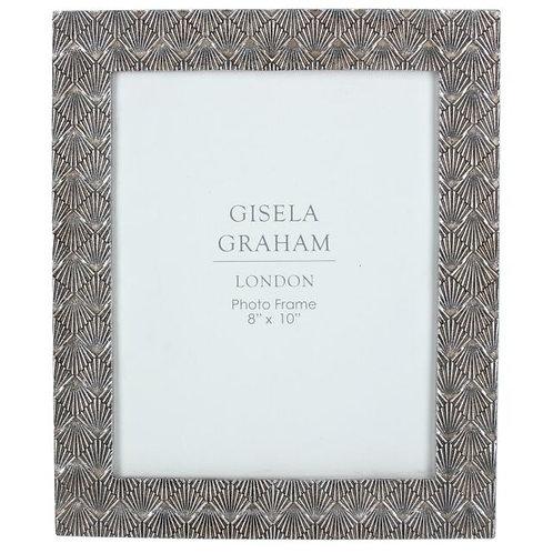 Gisela Graham Pewter Deco Fan Picture Frame - Multiple Sizes