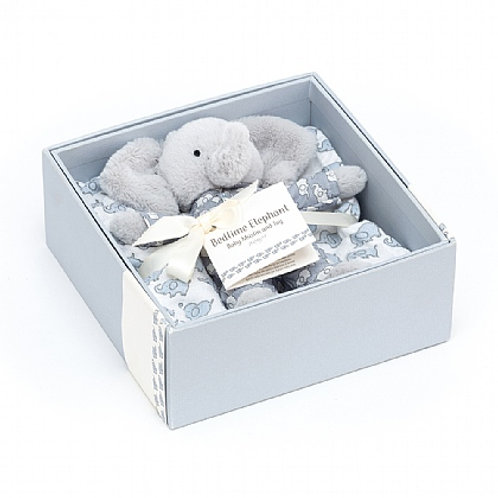 Jellycat bedtime gift set, one toy with two cotton muslins