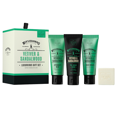Men's Grooming Vetiver & Sandalwood Gift set