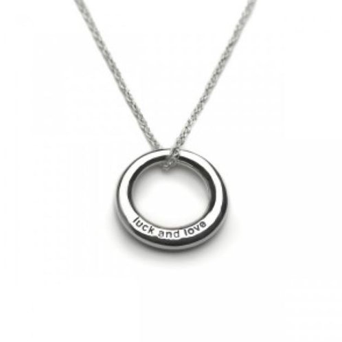 Tales from the earth 'luck and love' sterling silver necklace