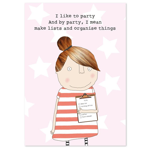 Rosie made a thing 'I like to party' A6 notebook