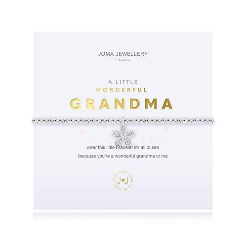 Joma Jewellery 'a little wonderful grandma' silver plated bracelet